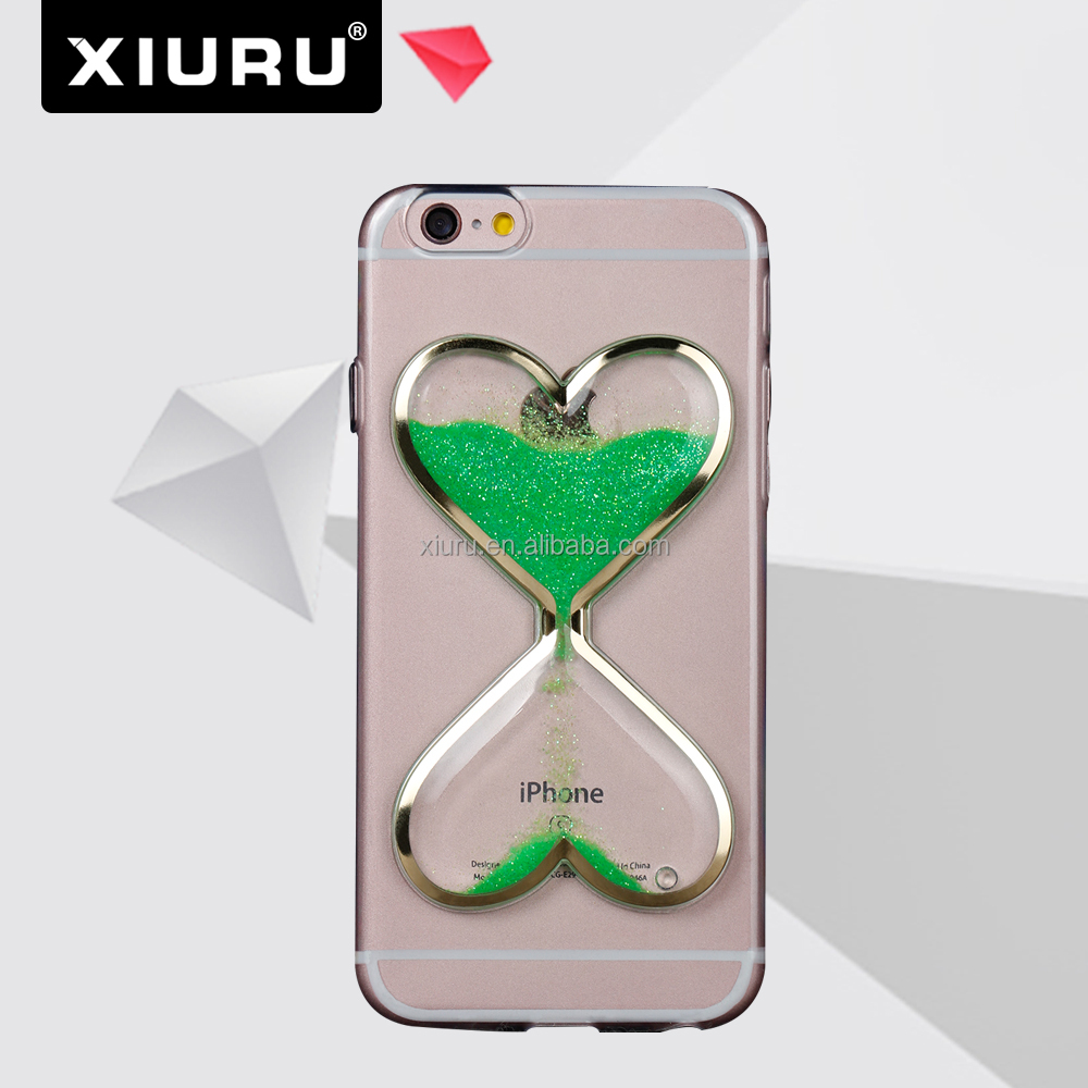 2016 Noctilucence Quicksand Transparent Cell Phone Case For Iphone 6 plus XR-PC-39
