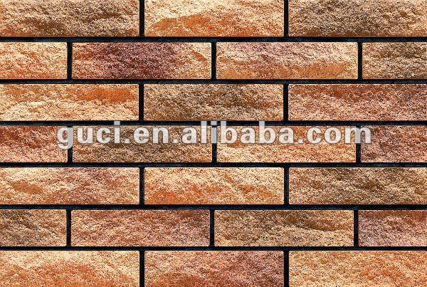 Fireproof exterior wall tile