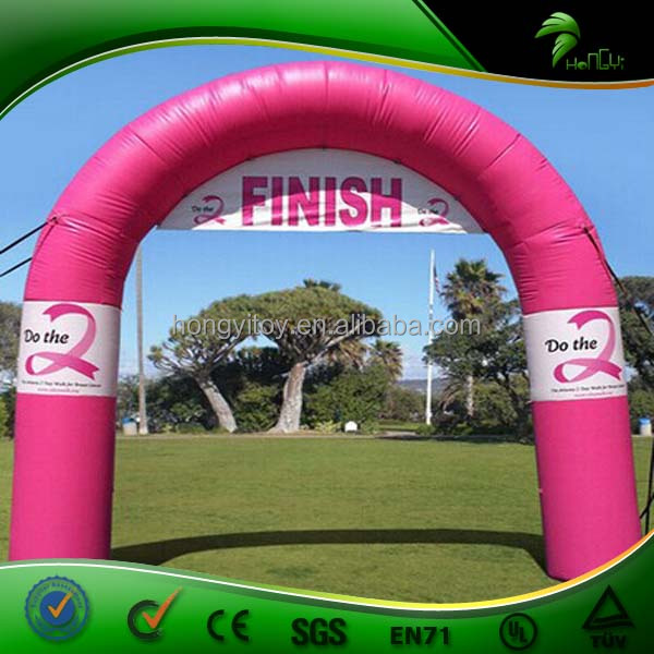 Hot Customized Pink Cheap Inflatable Arch / Outdoor Inflatable Start Finish Entrance Arch For Sale