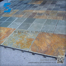 Whosale natural interlocking outdoor slate tile