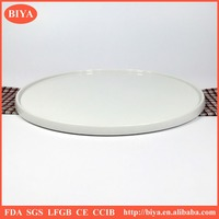 big size porcelain round ceramic pizza plate with cooking for hotel restaurant and home dinner plate with edge
