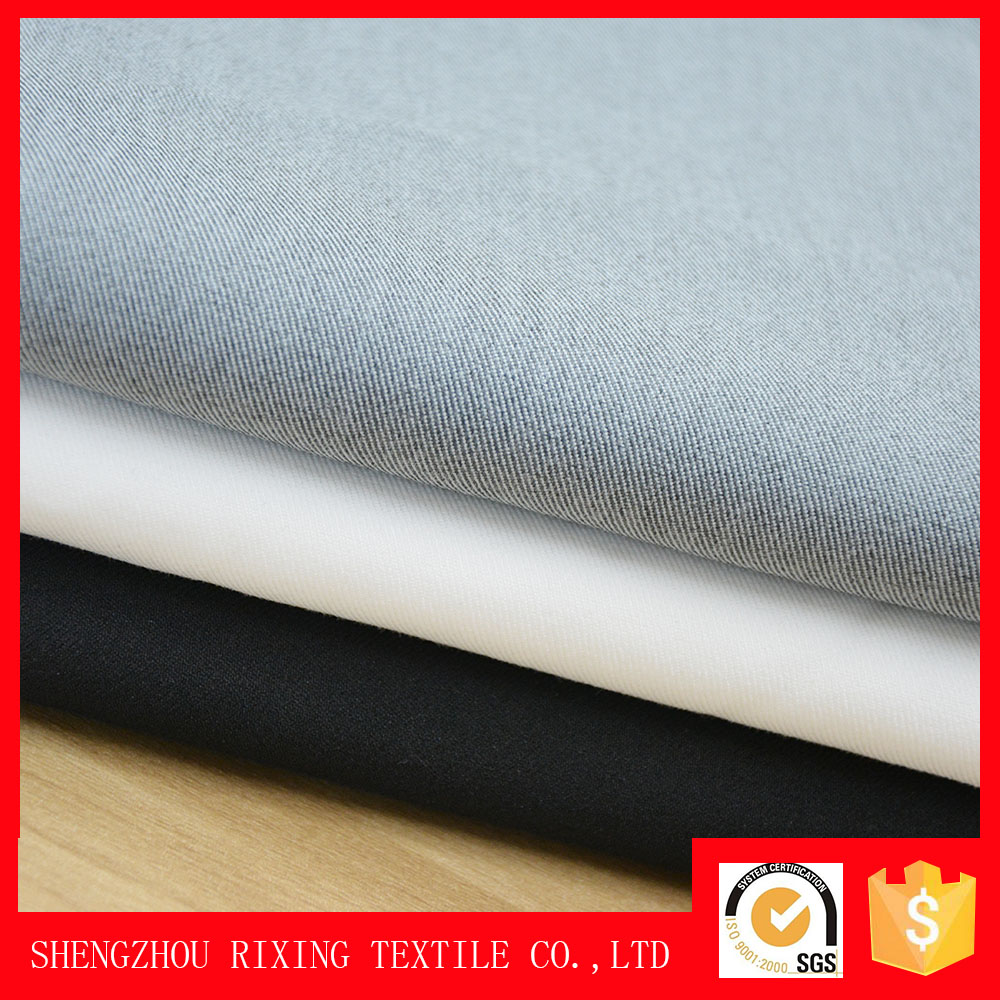 Factory wholesale woven twill TR fabric polyester cotton spandex fabric