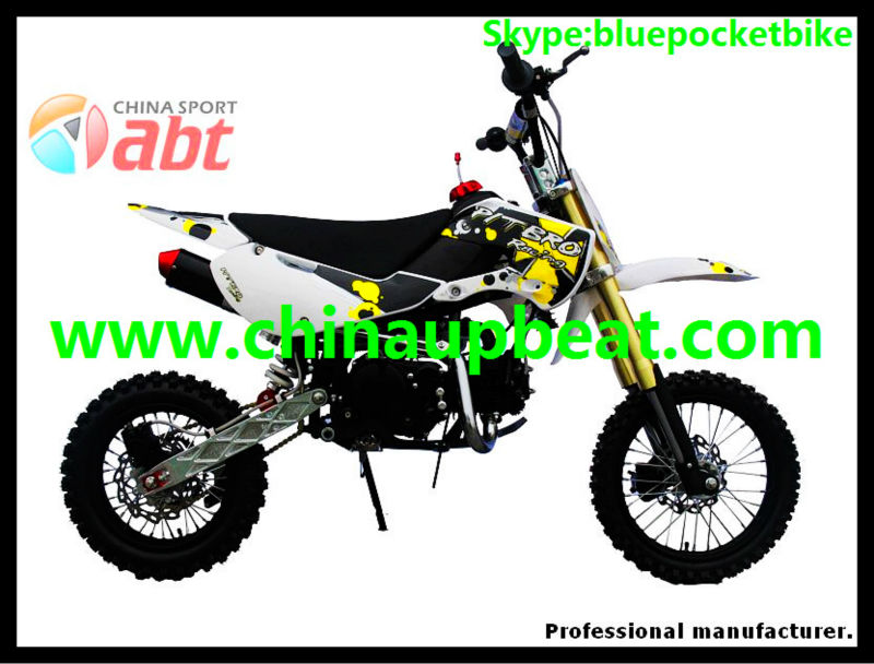 klx style dirt bike with 125cc engine and 17/14 big wheels