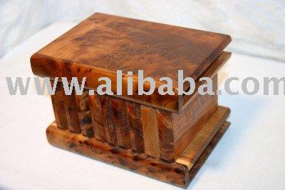 Caja del rompecabezas hecho de thuya madera artesan a y arte identificaci n del producto - Caja rompecabezas ...