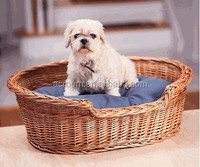 New cute wicker willow woven design delicate pet house accessories wholesale china
