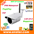 HOT!Plug&Play P2P IP66 Outdoor Waterproof WIFI IP Camera With Board Lens 3.6mm/POE optional