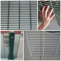 China factory supply high quality 358 security fence supplier/anti climb fencing panels/palisade fencing suppliers