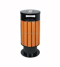 Steel and Wood Recycle Garbage Bin/Waste Container for Outdoor