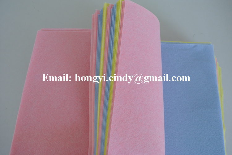 Super absorbent viscose/polyester nonwoven fabric heavy duty all purpose cloth, all purpose cleaning cloth