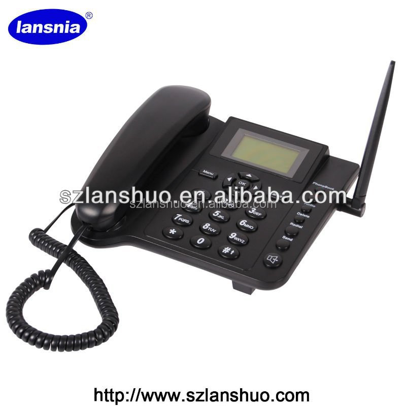 QUAD BAND 850/900/1800/1900MHz SIM CARD GSM FIXED WIRELESS DESKTOP HONE