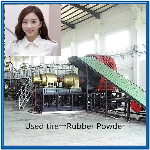 waste tyre recycling machine rubber projects