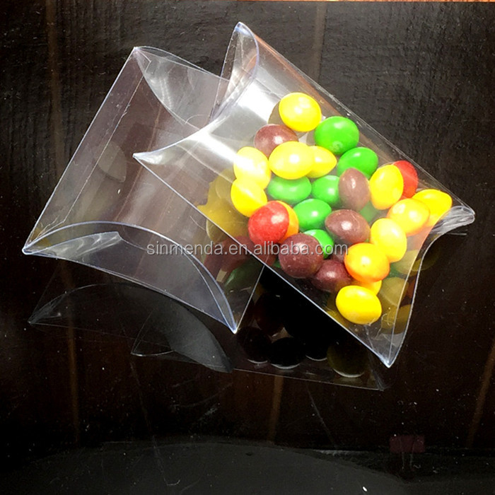 Customized OEM Pillow case candy box Plastic Clear packaging