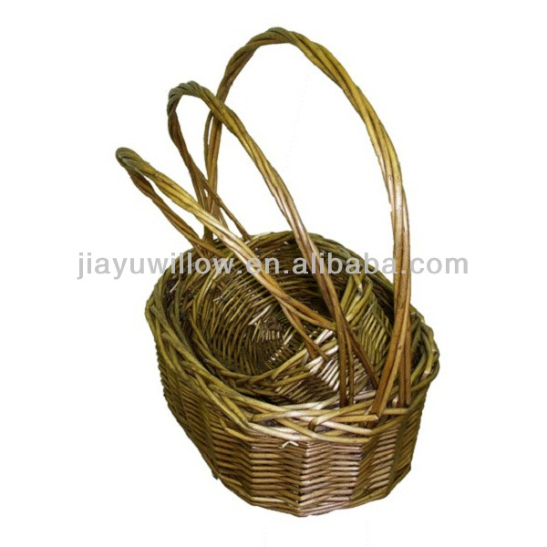 Personalized small wicker gift basket uk style