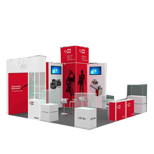 Customized 3x6 trade show aluminum display exhibition booth design warehouse building costs
