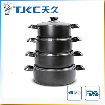 Non-stick Sauce Pot with Powder Coating and Glass Lid