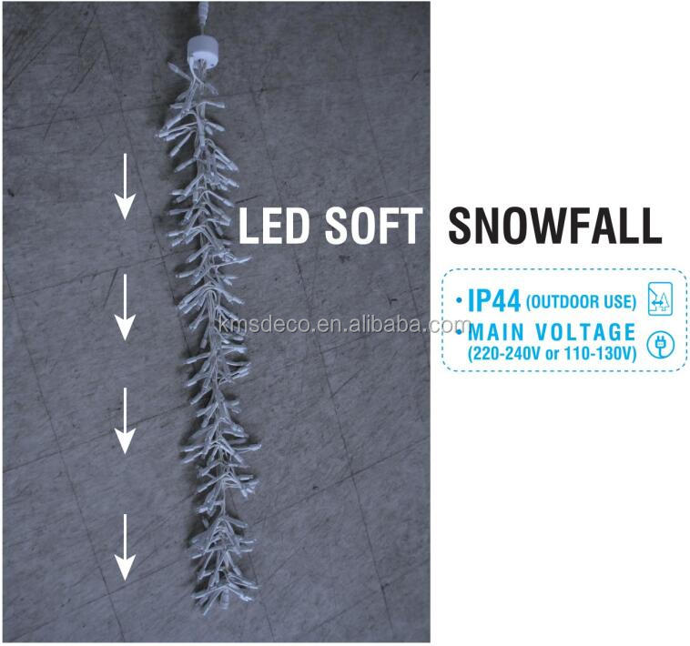 220-240v outdoor snowfall cluster lights for commercial market
