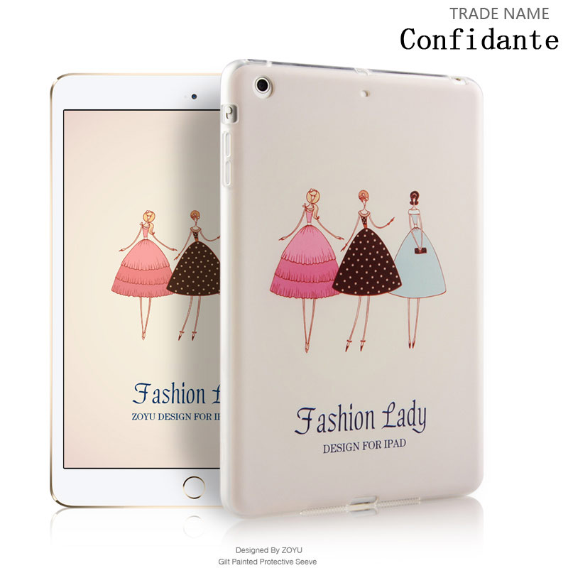 fashion color print silicon rubber tablet case/Cover For ipad mini 123