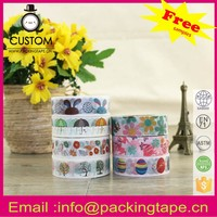 Alibaba China supplier adhesive tape,custom decorative printed removable adhesive tape