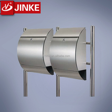 Wholesale free standing outdoor stainless steel metal half-round shape newspaper mailboxes