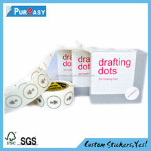 Custom removable printing private drafting dots