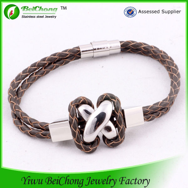 Wholesale 2014 new product cross bracelet leather