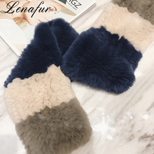 Winter Warm Double Side Knit Luxury Soft Angora Rabbit Fur Muffler,Neck Wrap Shawl Scarf
