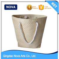 2016 hot selling women tote straw beach bag