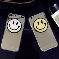 Korea smile face case cover for iphone 5 acrylic mirror case