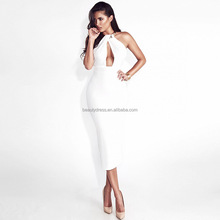 B13576A Sexy lady halter backless bandage party dress
