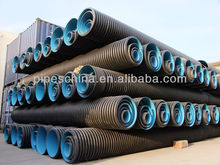 HDPE large diameter corrugated drainage pipe