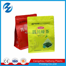 eight side sealing plastic tea bag/pet vmpet pe plastic bag for tea