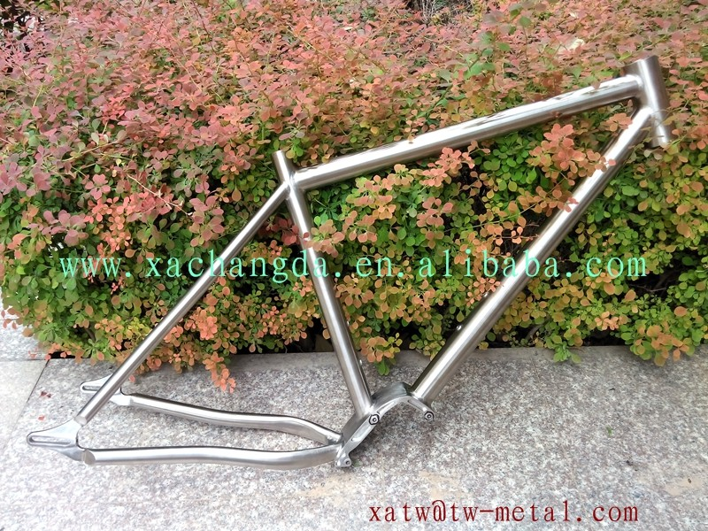 titanium fat bike with pinion titanium mtb bike frame gearbox custom titanium e-bike frame inner line routing design