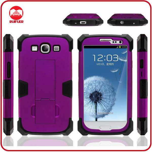 Super Robot Heavy Duty Rubber Impact Combo Kickstand Case for Samsung Galaxy S3 I9300