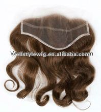 100% brazilian top closure hair piece