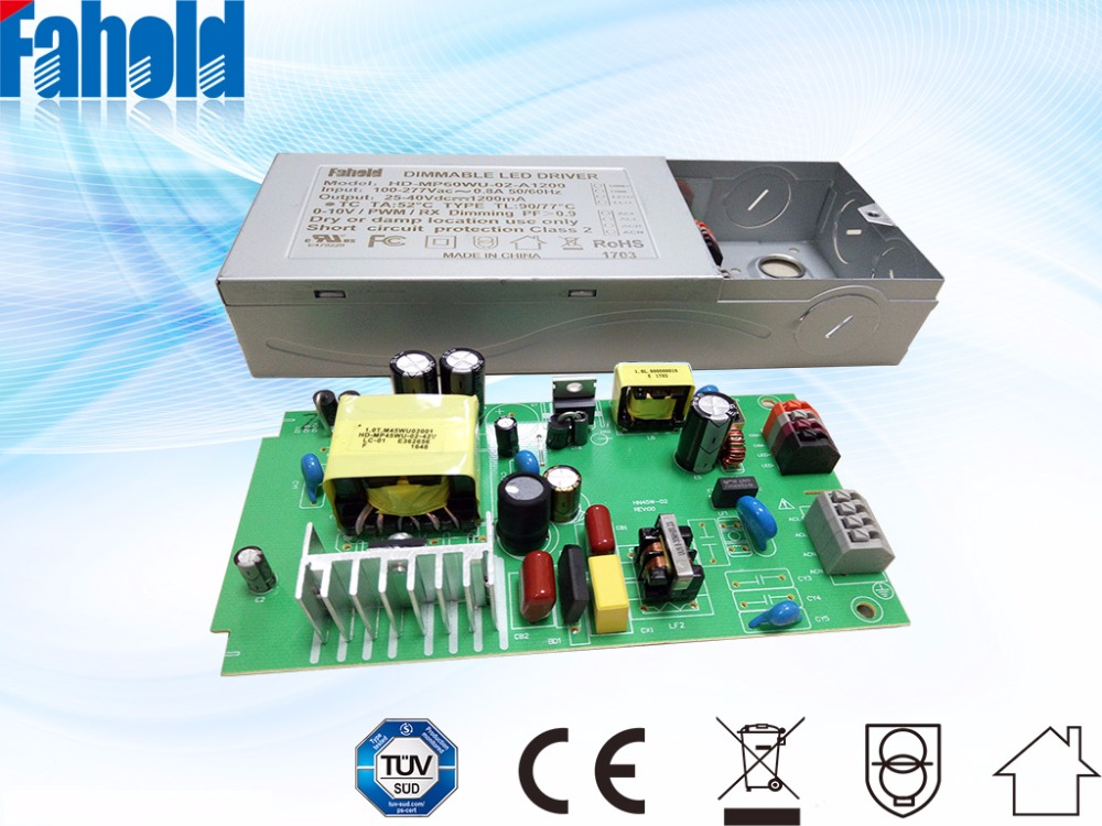 dmx constant current led driver 36V 2A 80W iron case charger for LED light china suppliers