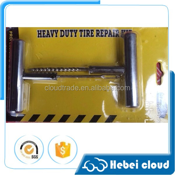 High quality stain steel handle tubeless tire repair kits/Car auto flat tire repair tools