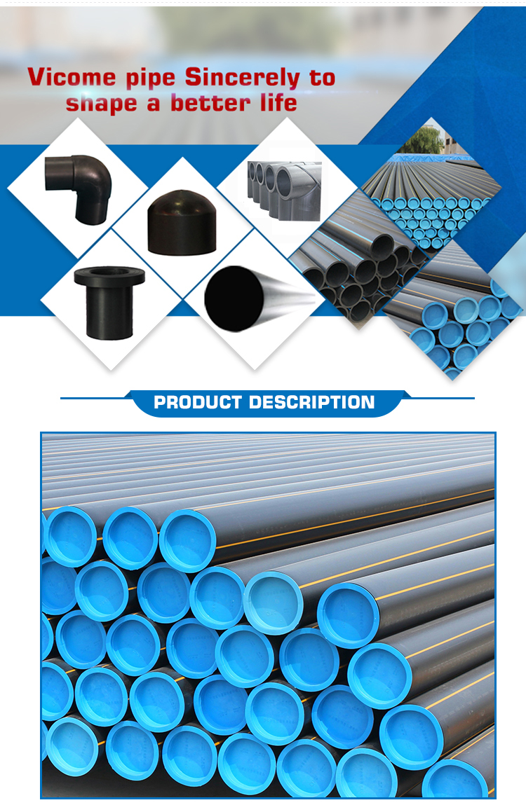 Water Pipe PE Pipe 110mm