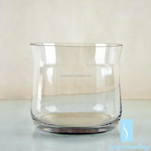 Lead free clear handmade cheap tall flower glass round bottom vases with good quality