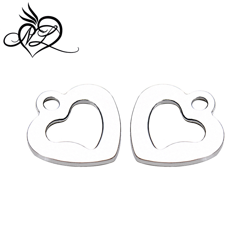 Wholesale Metal Stainless Steel Lovely Heart Charms Pendants For Jewelry Making Crafts <strong>Accessories</strong>
