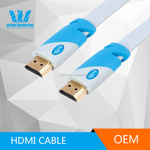 Best quality Male to Male metal ribbon HDMI cable 1.4v with ferrite core for home theatre
