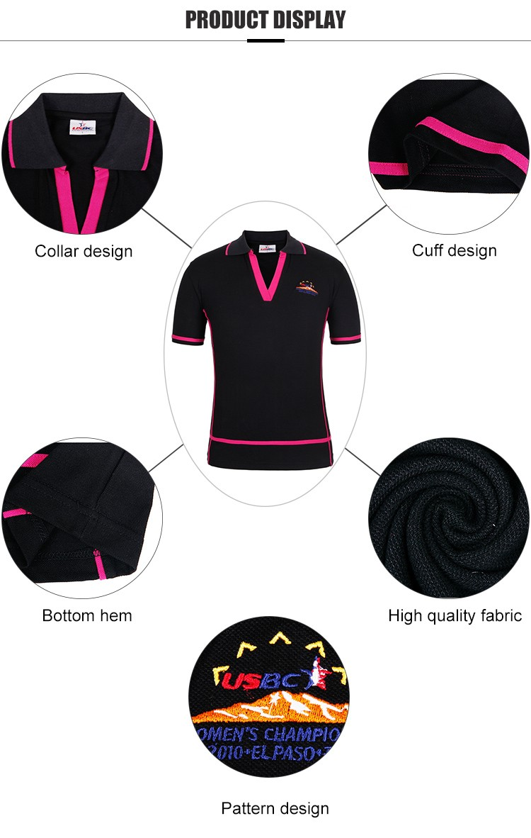 Wholesale V Neck Back Polo Shirt With Own Logo Embroidered