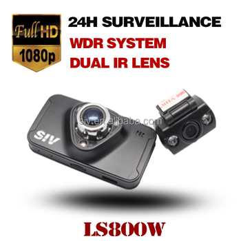 SIV Original LS800W 2.7 inch NTK96655 Full HD 1080P Resolution Night Vision Two Lens Car Camera Recorder