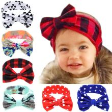 2016 halloween fabric baby headband kids bow knot flower baby headband for girls