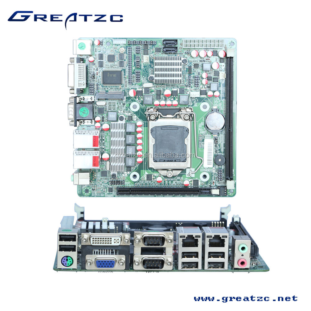 Zc-h61dl Mini Itx Motherboard Onboard 2 Gigabit Lan Card,2