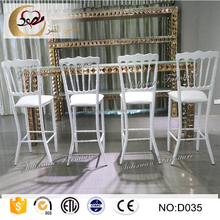 metal folding used whtite iron height standing bar stool chairs