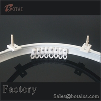 cheap plastic curtain plastic slide track curtain accessories in china,curtain accessories single bracket,home window track