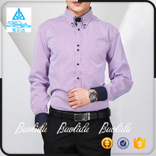 Factory Direct Sell Men's Double Collar Dress Shirt Design