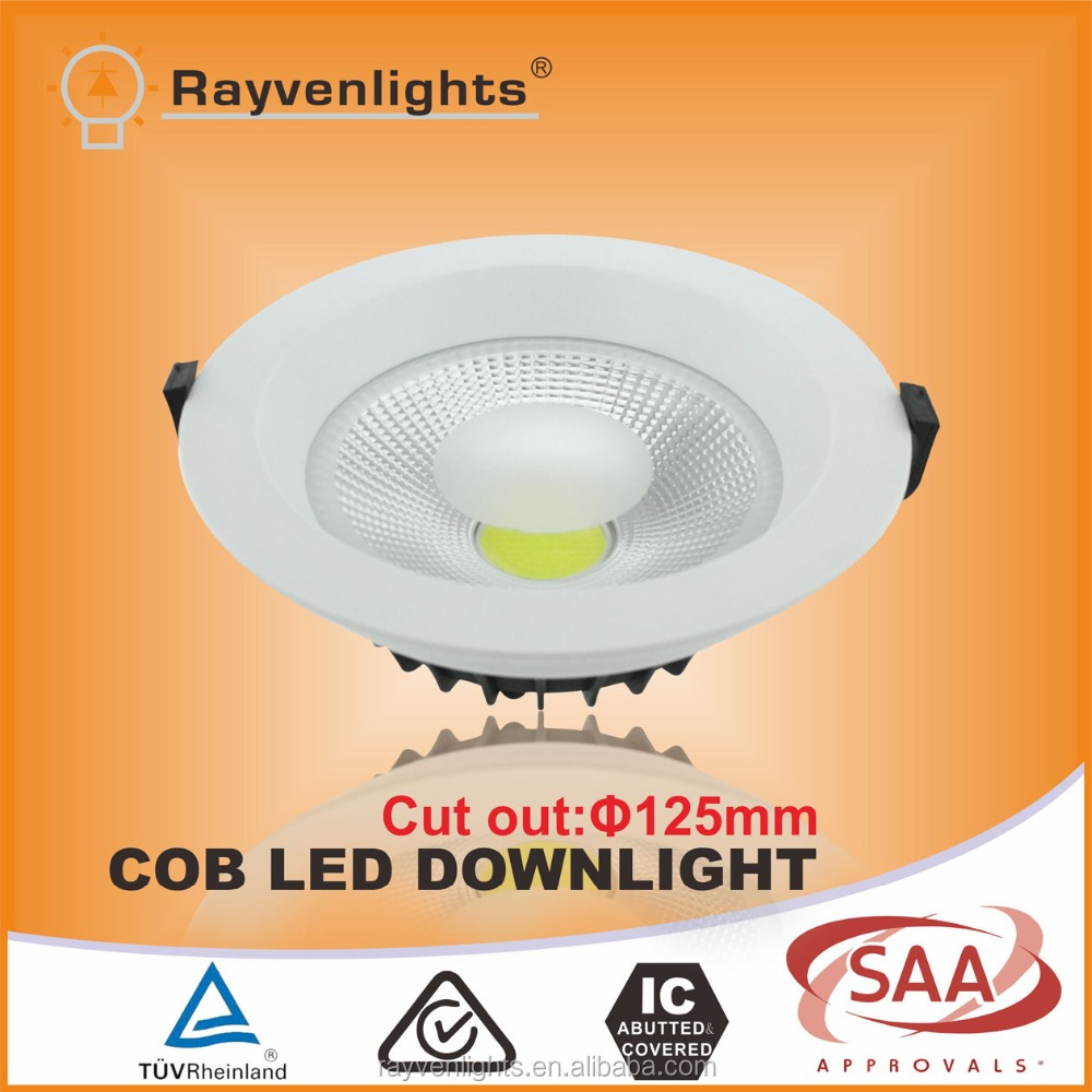 8 inch recessed 30w cob led down light,high quality harga lampu down light