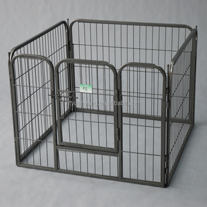 Foldable Metal Galvanized Large Boxed Dog Cat puppy play pen