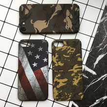 Hard PC Camouflage Case for iPhone 7 7 plus , American Star Flag Mobile Phone Case for iPhone 8